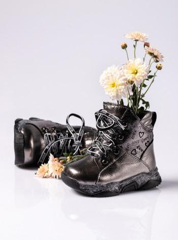 Ботинки зимние из натуральной кожи на девочку