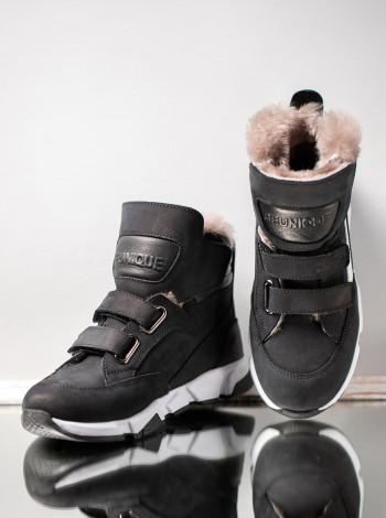 Ботинки зимние из нубука на мальчика