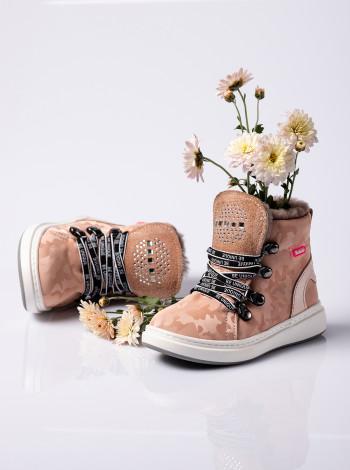 Ботинки зимние из нубука на девочку