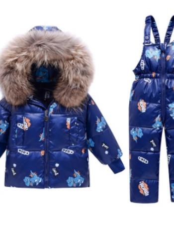 Пуховий зимовий комплект для хлопчика