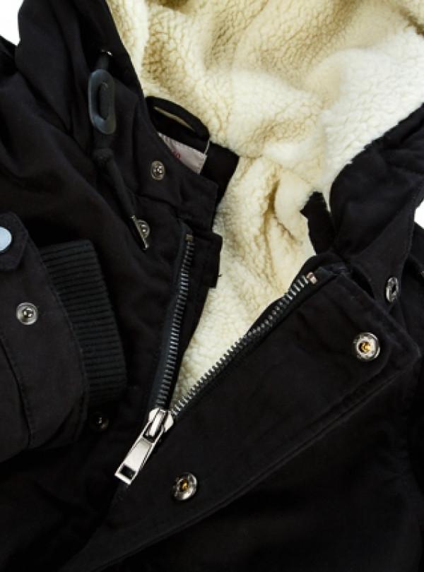 Куртка парка на мальчика чёрный   945