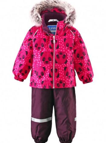 Комбинезон Lassie розовый с принтом панда для девочки