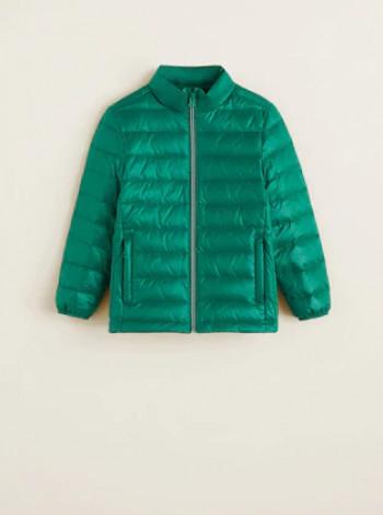 Куртка пуховик Mango зелена