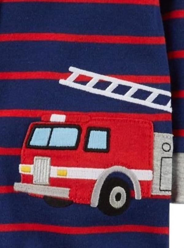 Коттоновый человечек Пожарная Машина синий Carters   671