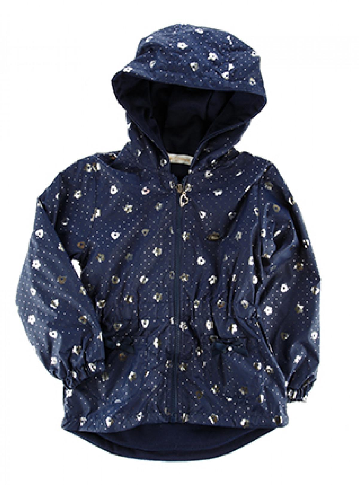 Куртка ветровка с серебряным принтом   880