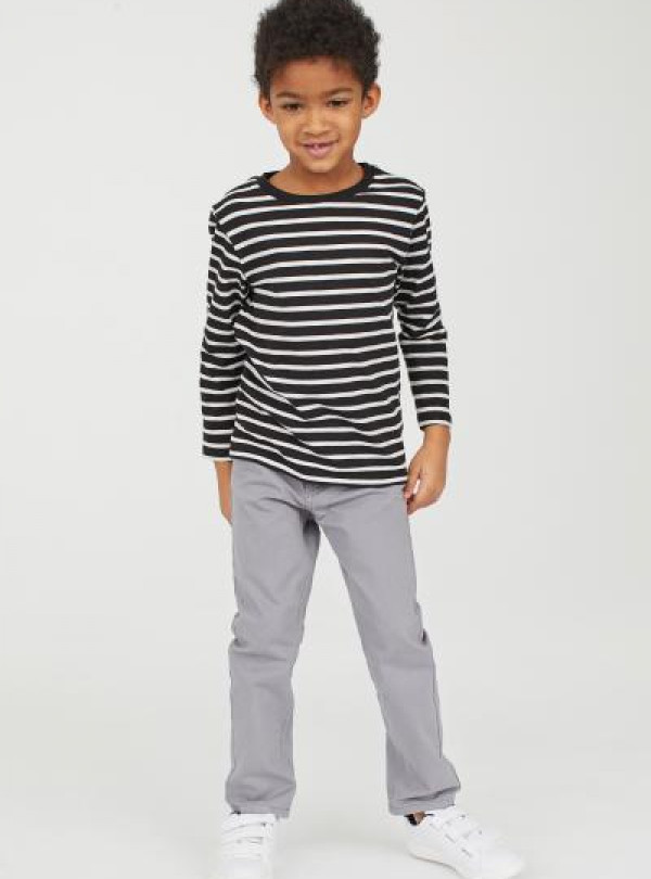 Котоновые брюки серого цвета H&M   2239