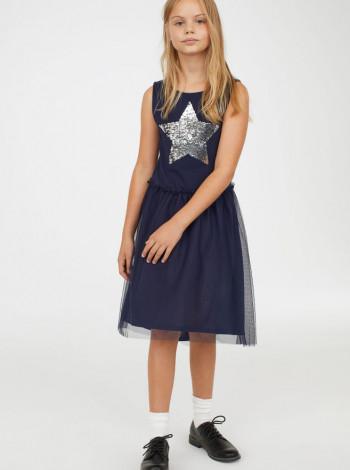 Платье с двусторонними пайетками H&M
