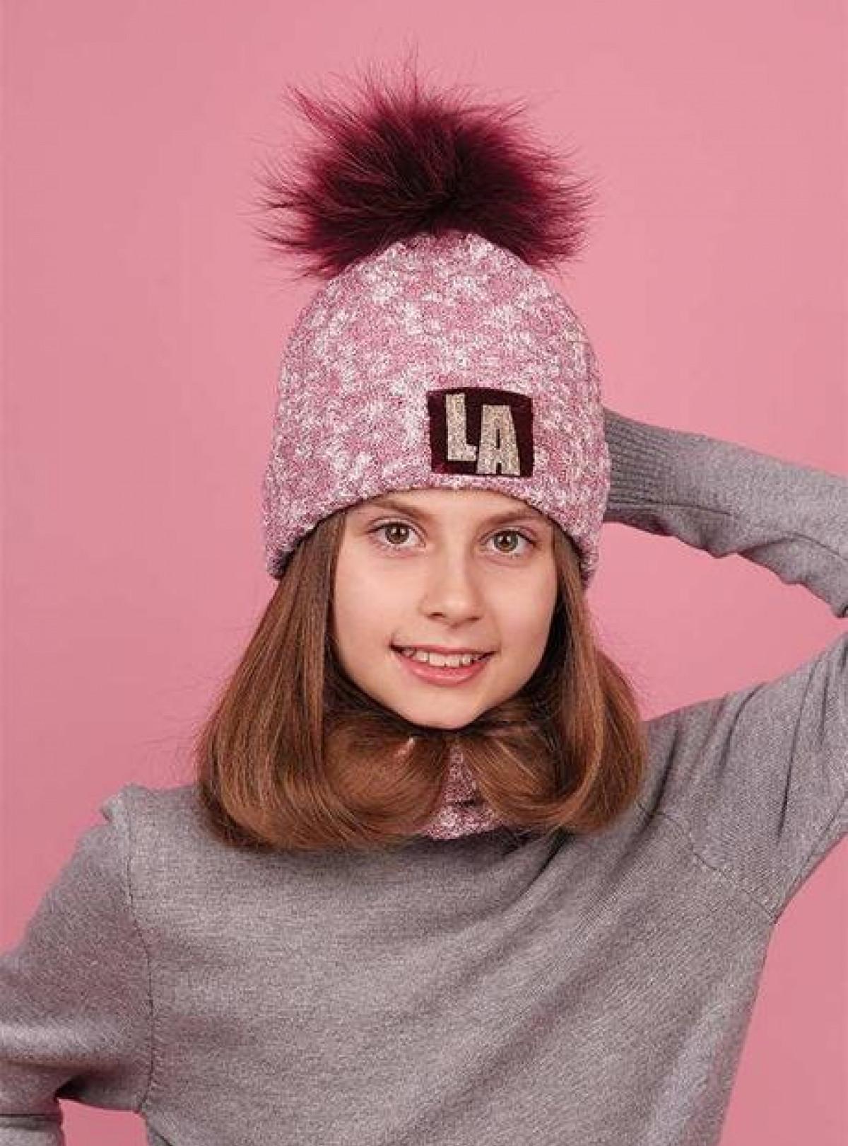 Зимний набор шапка и хомут Dembohouse   934
