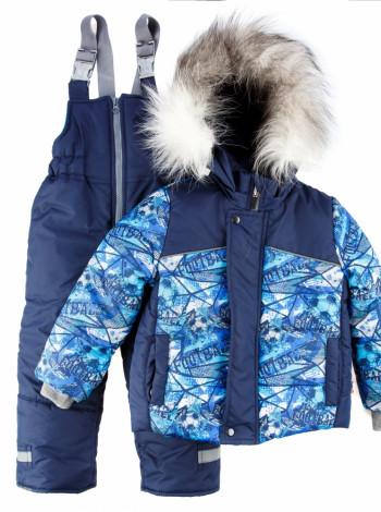 Зимовий комплект напівкомбінезон і куртка