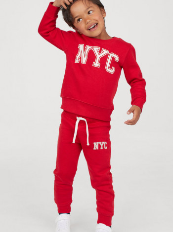 Кофта+джоггери на хлопчика NYC червоний H&M