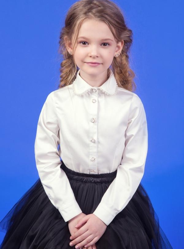 Шкільна блузка на довгий рукав 2318