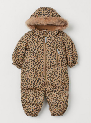Комбинезон для девочки с леопардовым принтом