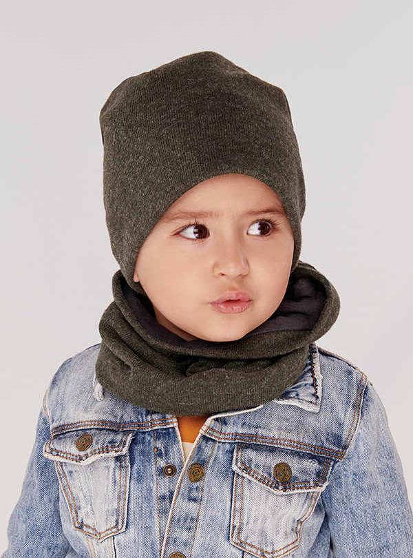Осенняя шапка Хаез (набор) хаки Dembohouse   584