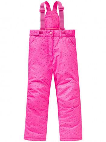 Тёплый полукомбинезон на девочку розовый