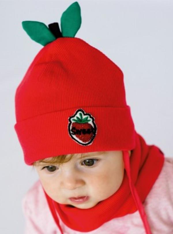 Осенняя шапка+хомут Оранж (набор) красный Dembohouse   765