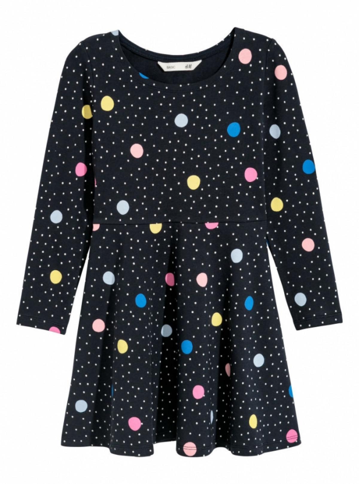 Трикотажне плаття темне H&M 697