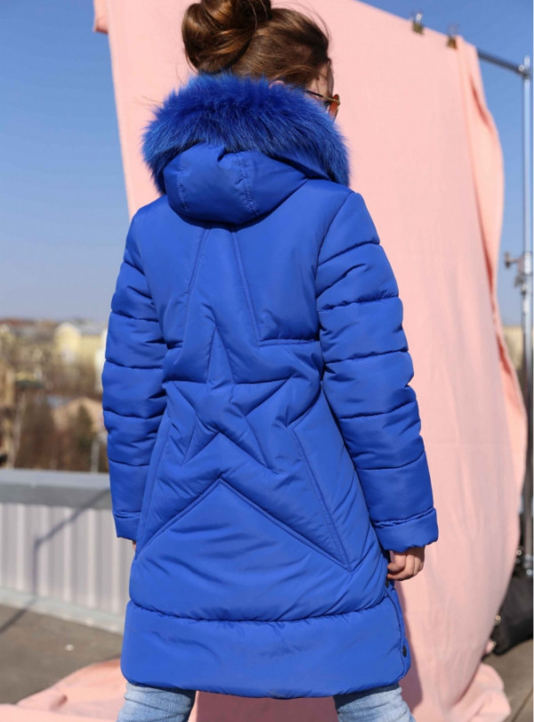 Куртка на девочку, полупальто Вики 2 электрик 3431 Nui Very   912