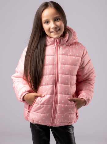 Флисовая демисезонная куртка для девочки