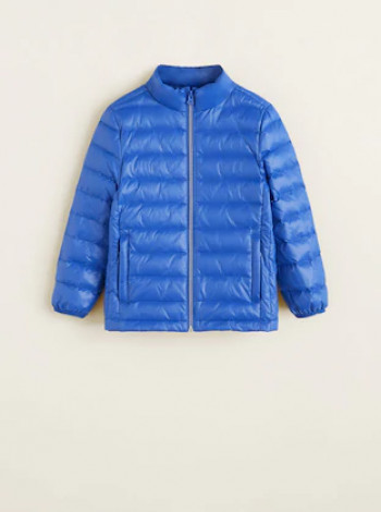 Куртка пуховик Mango синій