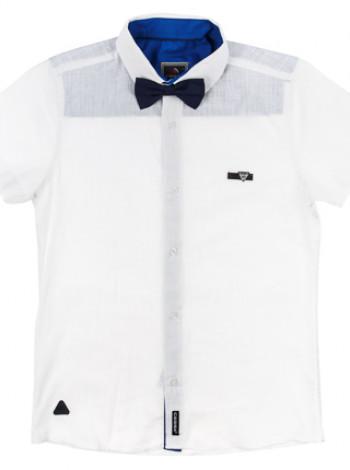 Рубашка короткий рукав с бабочкой