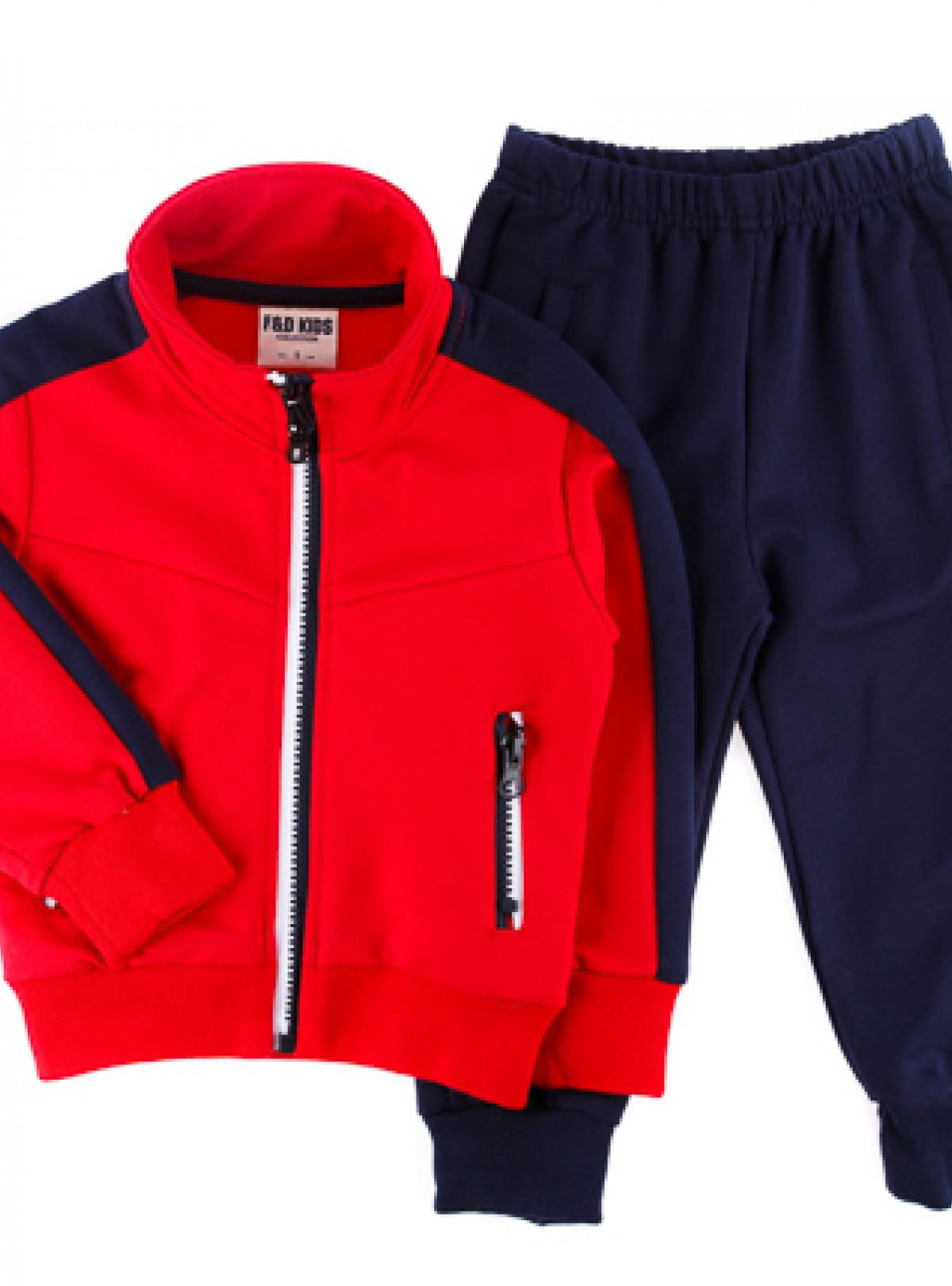 Спортивний костюм червоний 730