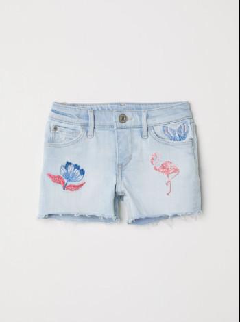 Шорты на девочку с аппликацией H&M