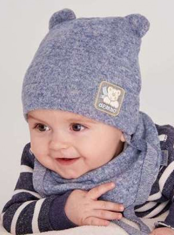 Осіння шапка Сторми (набір) синій DemboHouse 612