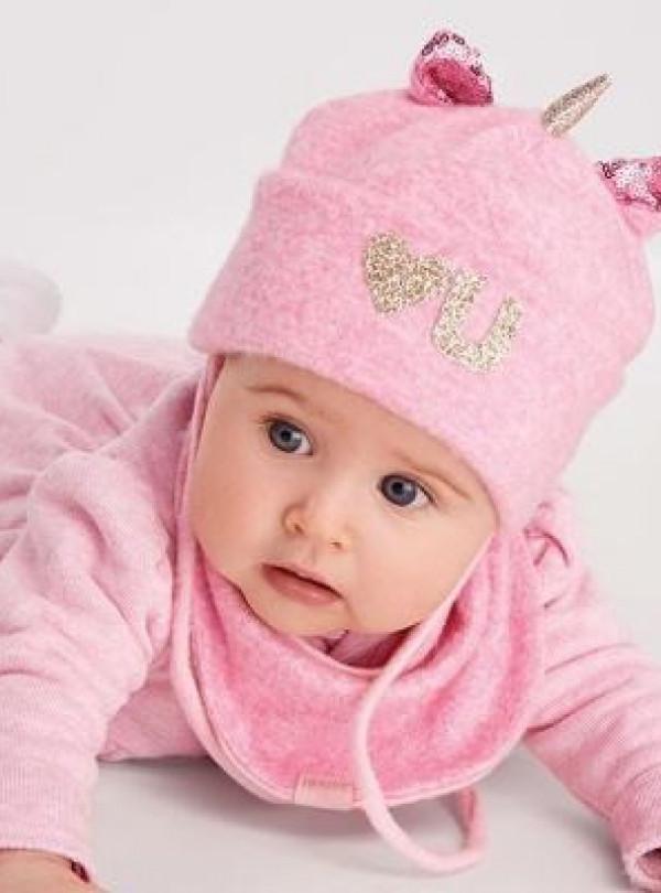 Осіння шапка+хомут Меган (набір) рожевий DemboHouse 774