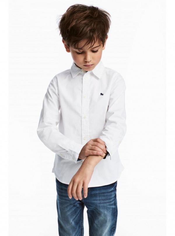 Бавовняна сорочка біла H&M 2412