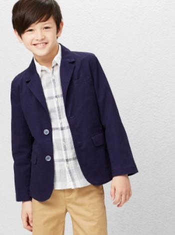 Котоновый пиджак школа Mango