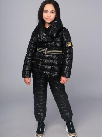 Куртка Mone чорна для дівчинки