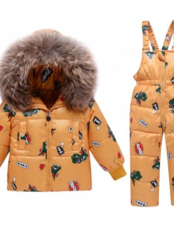 Пуховий зимовий комплект дитячий