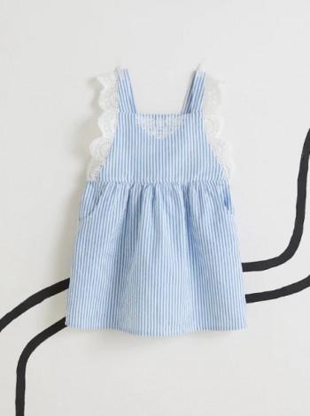 Хлопковое платье для девочки Mango