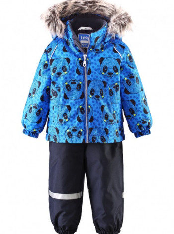 Комбинезон Lassie синий с принтом панда для мальчика/девочки