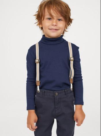 Водолазка синяя с длинным рукавом H&M