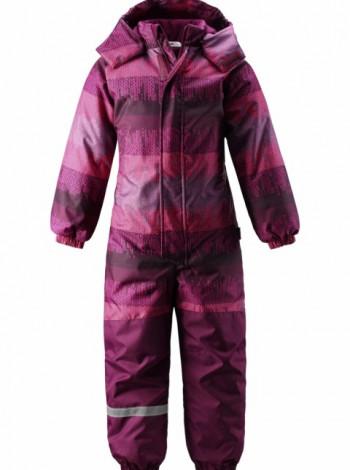 Комбинезон Lassie Siiko фиолетовый с принтом полоски для девочки