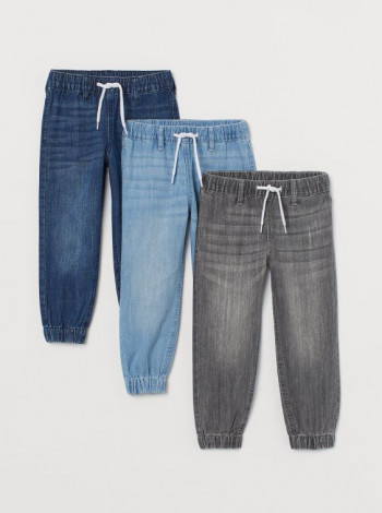 Джинсы джоггеры на мальчика голубые H&M