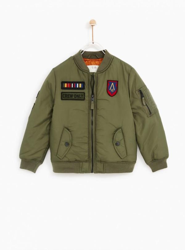 Куртка бомбер милитари ZARA   549