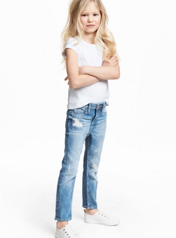 Потертые  джинсы на девочку H&M   642