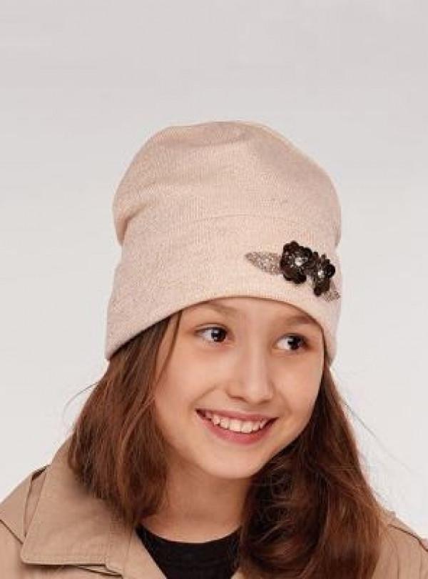 Осенняя шапка Оникс крем Dembohouse   766