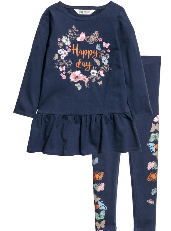 Комплект платье и лосины H&M   681