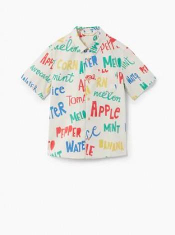 Рубашка Mango с надписью
