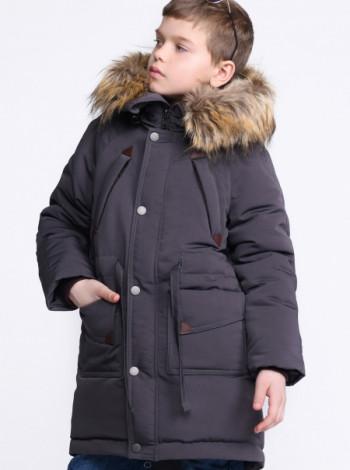 Зимняя куртка для мальчика X-Woyz 27883 графит