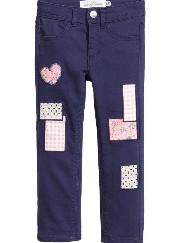 Котонові штани з латками H&M 652