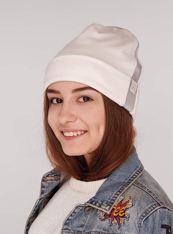 Осенняя шапка Теодора молочный Dembohouse   618