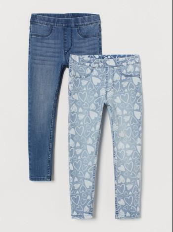 Джегинсы на девочку голубые H&M