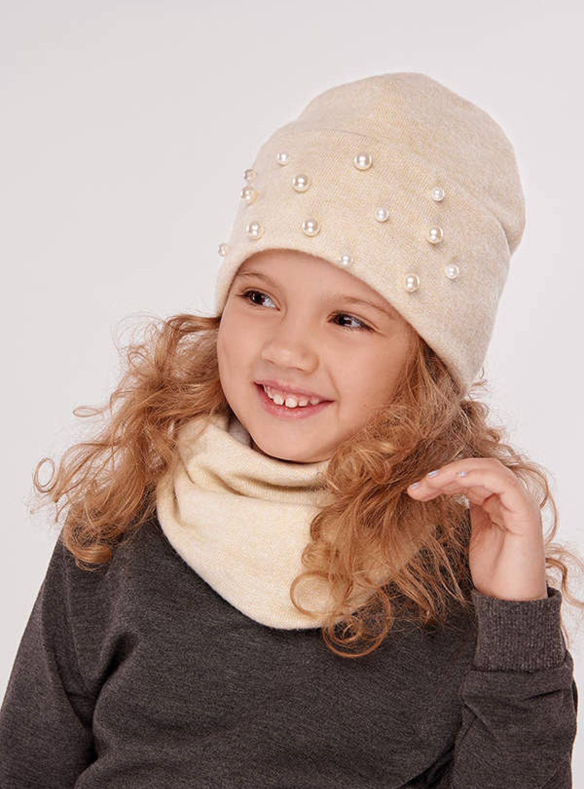 Осенняя шапка Сандал (набор) крем Dembohouse   760