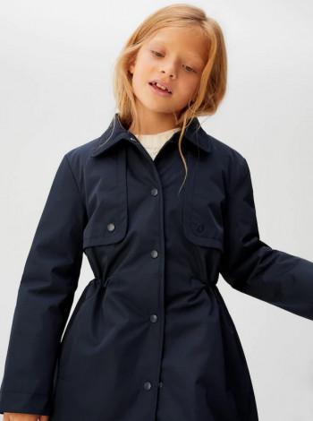 Пальто с регулируемым шнуром на талии Mango