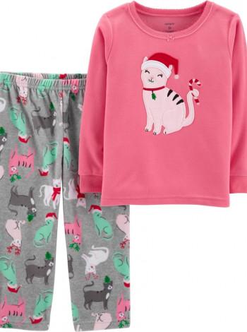 Флисовая пижама котик Carters