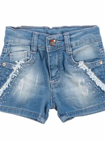 Шорты джинсовые с карманами
